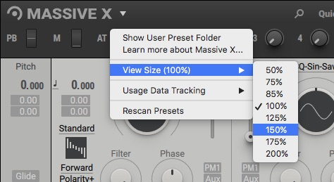 Native Instruments Massive X resize