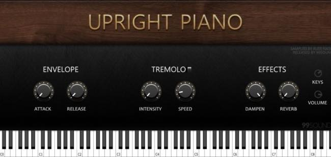 Upright Piano / 99Sounds